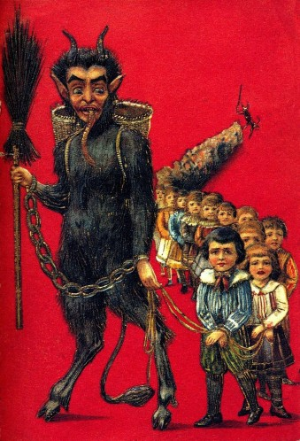 One of 1000s of vintage Krampus postcards you can hotlink from your lazy, seasonal blog.